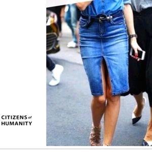 Citizens of Humanity Sophia Denim Pencil Skirt